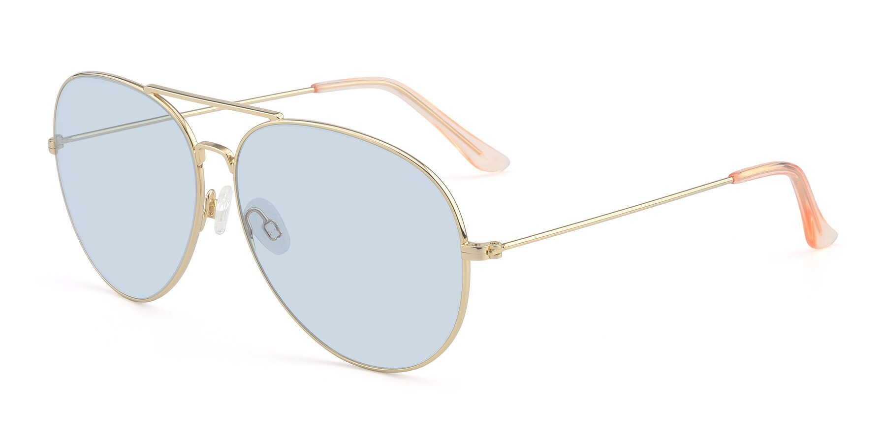 Angle of Paradise in Gold with Light Blue Tinted Lenses