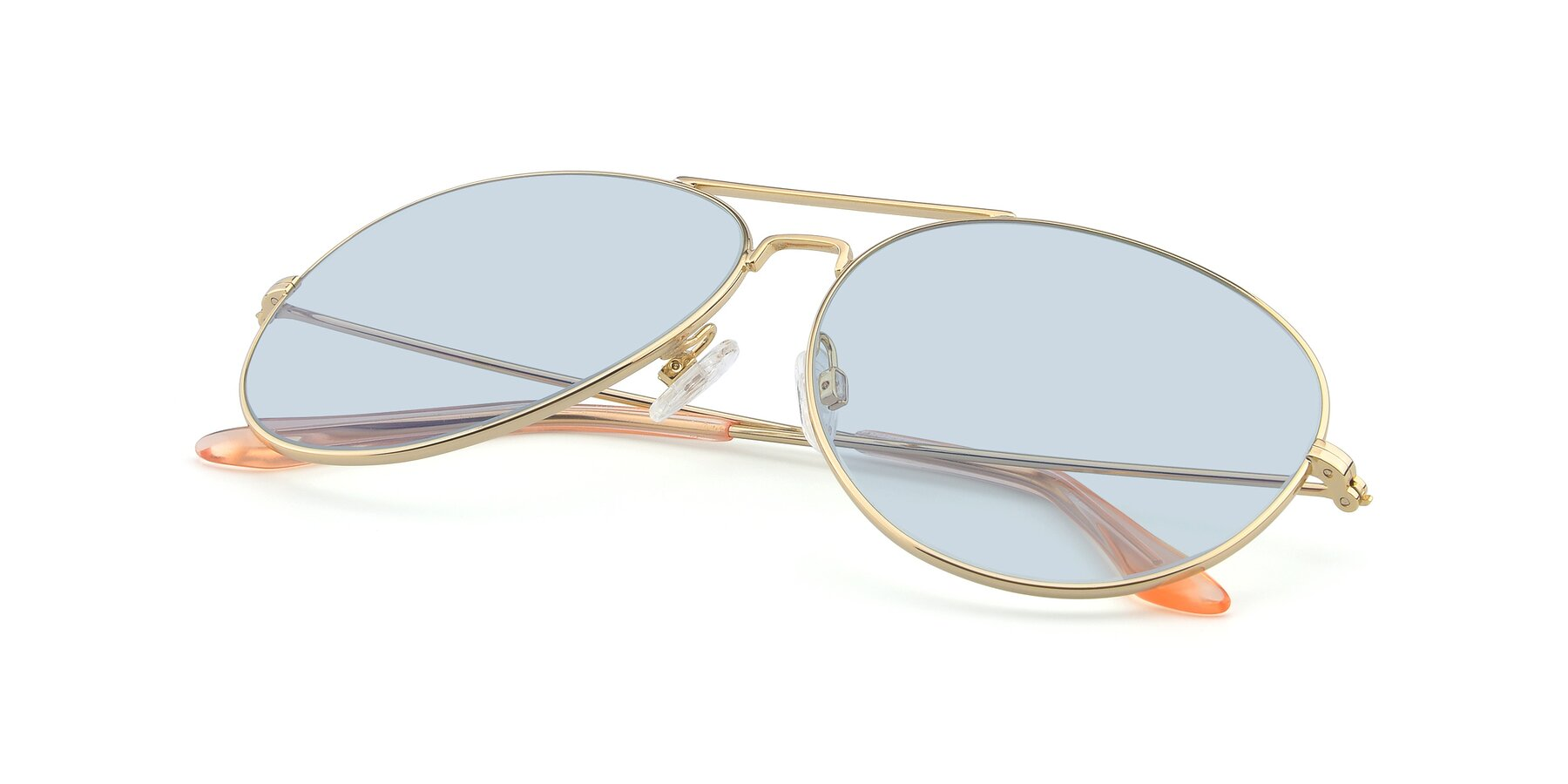 View of Paradise in Gold with Light Blue Tinted Lenses