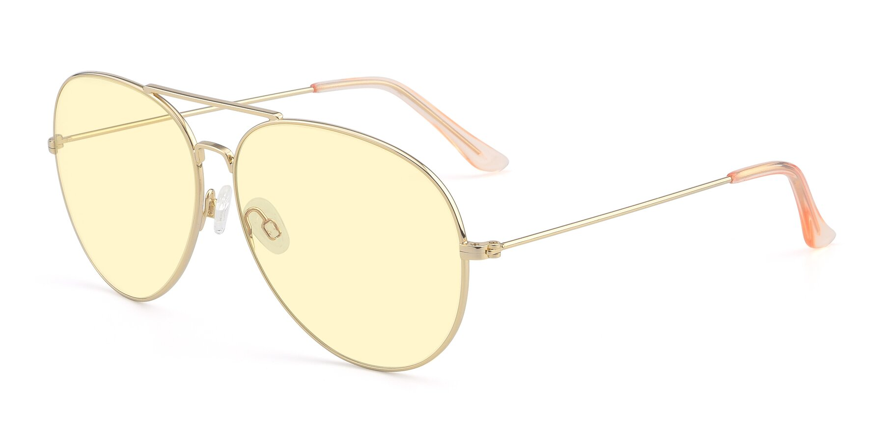 Angle of Paradise in Gold with Light Yellow Tinted Lenses