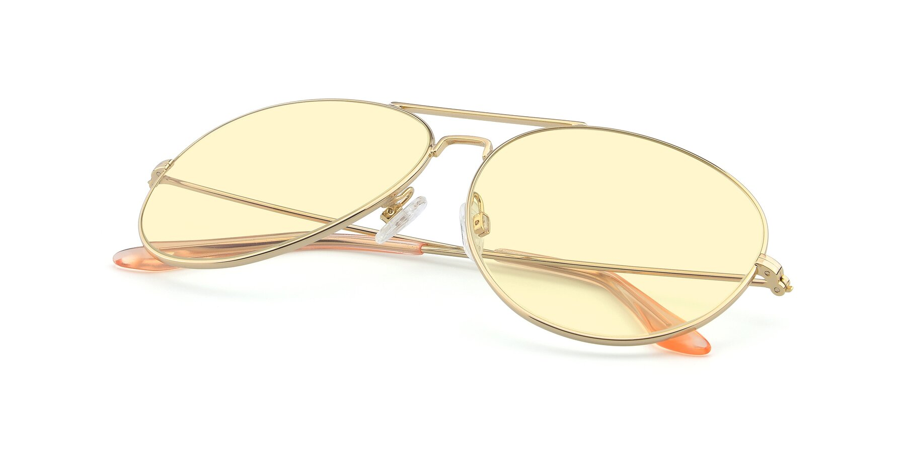 View of Paradise in Gold with Light Yellow Tinted Lenses