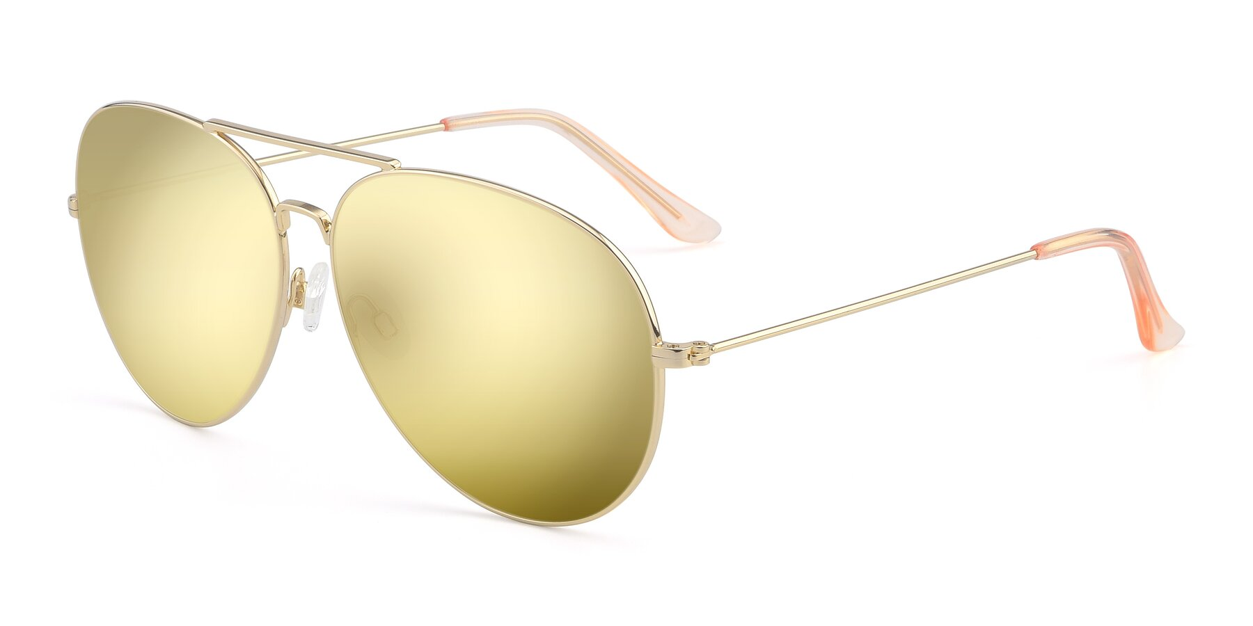 Angle of Paradise in Gold with Gold Mirrored Lenses