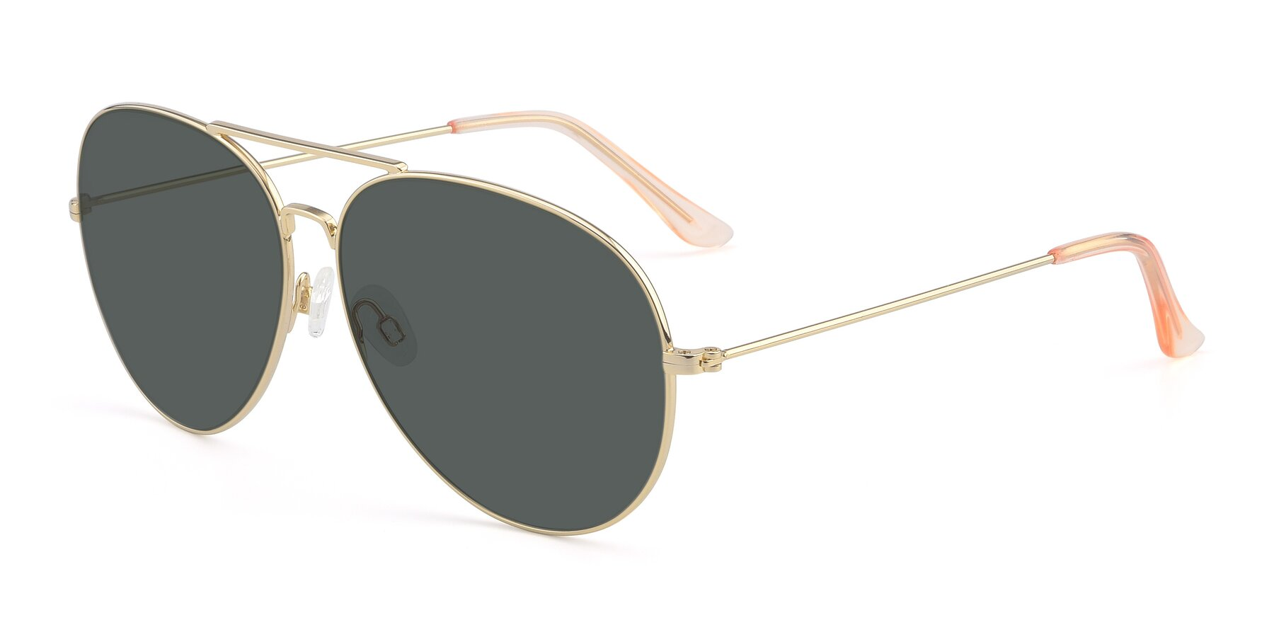 Angle of Paradise in Gold with Gray Polarized Lenses