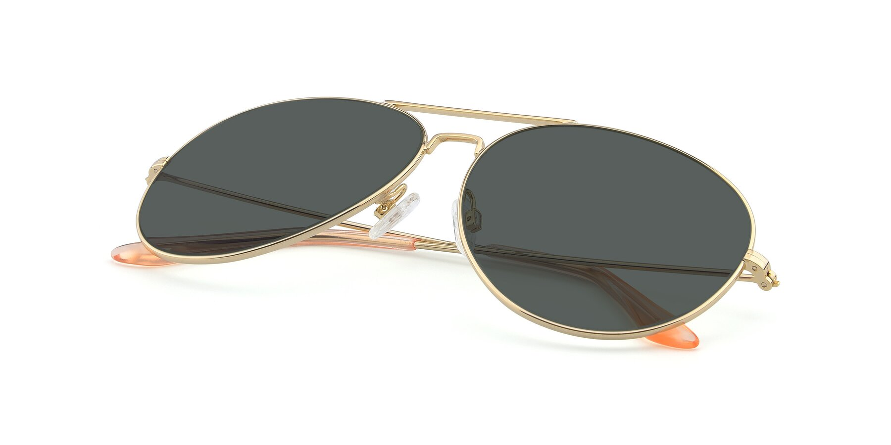 View of Paradise in Gold with Gray Polarized Lenses