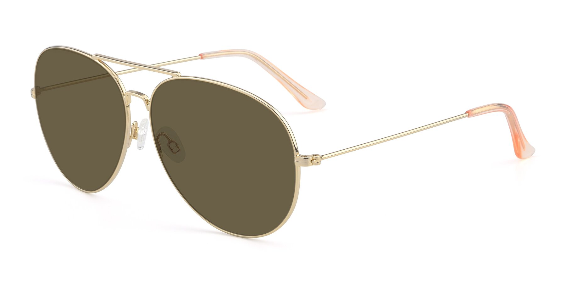 Angle of Paradise in Gold with Brown Polarized Lenses
