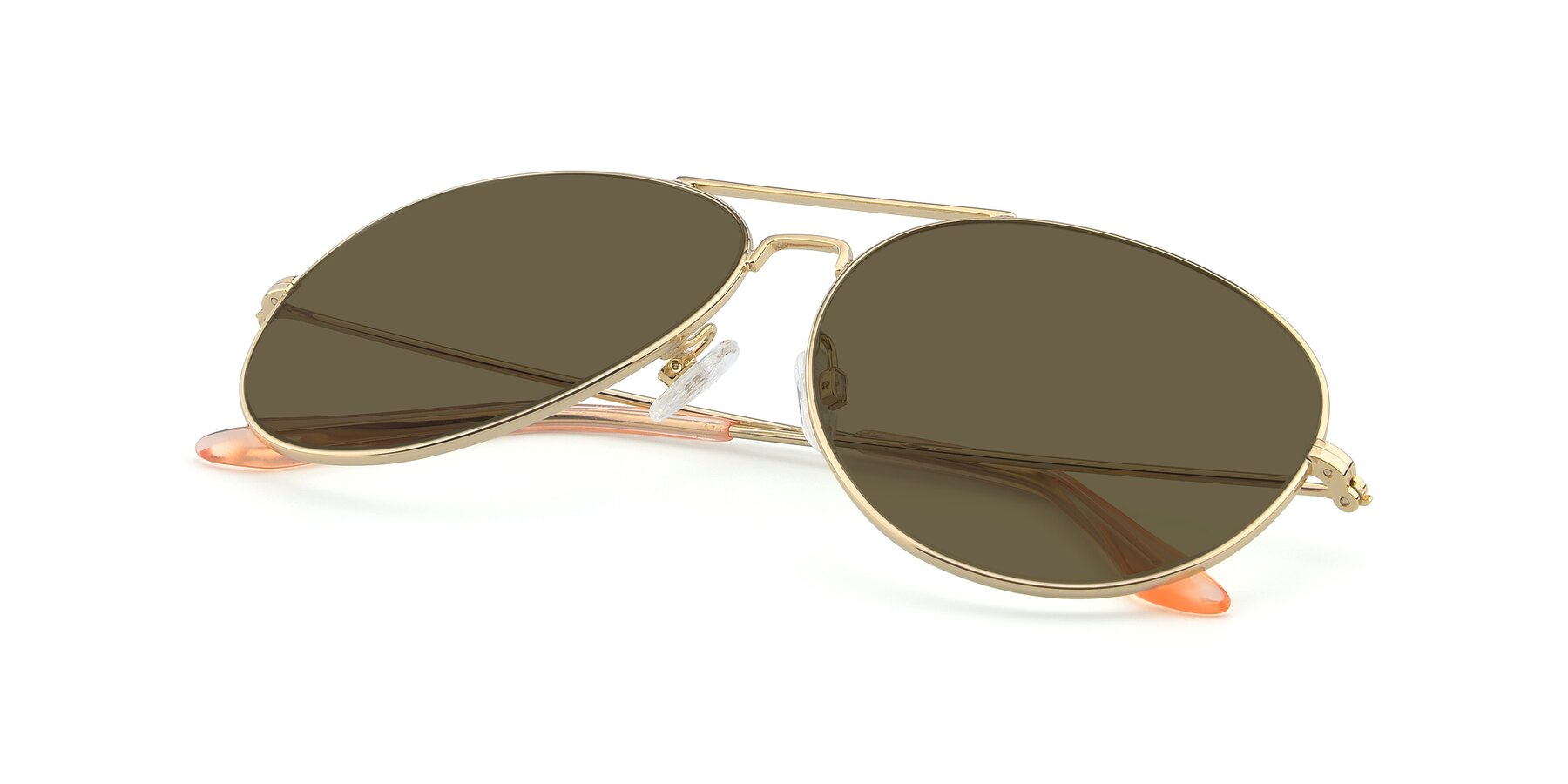 View of Paradise in Gold with Brown Polarized Lenses