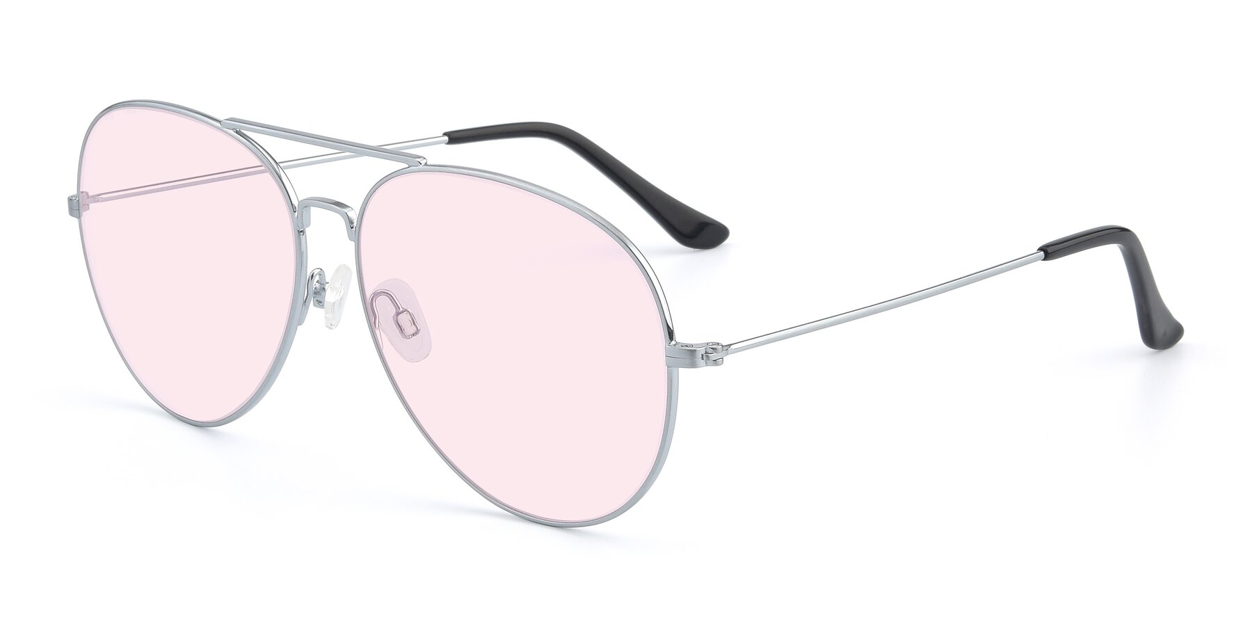 Angle of Paradise in Silver with Light Pink Tinted Lenses
