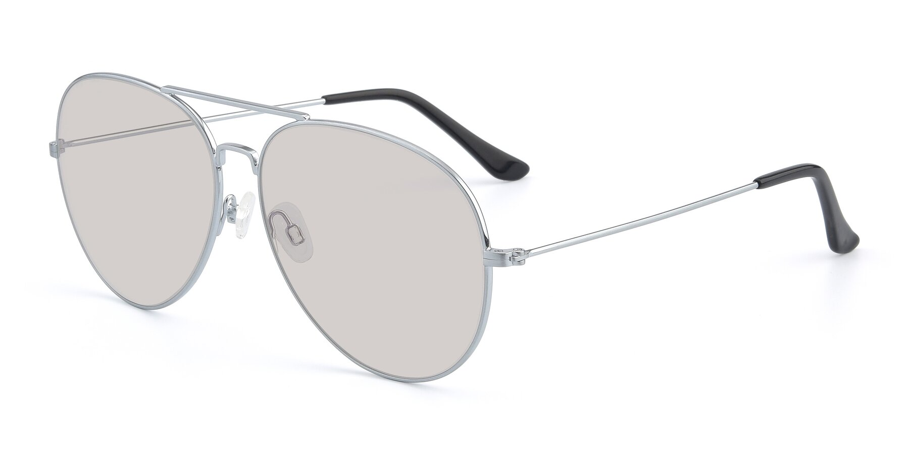 Angle of Paradise in Silver with Light Brown Tinted Lenses