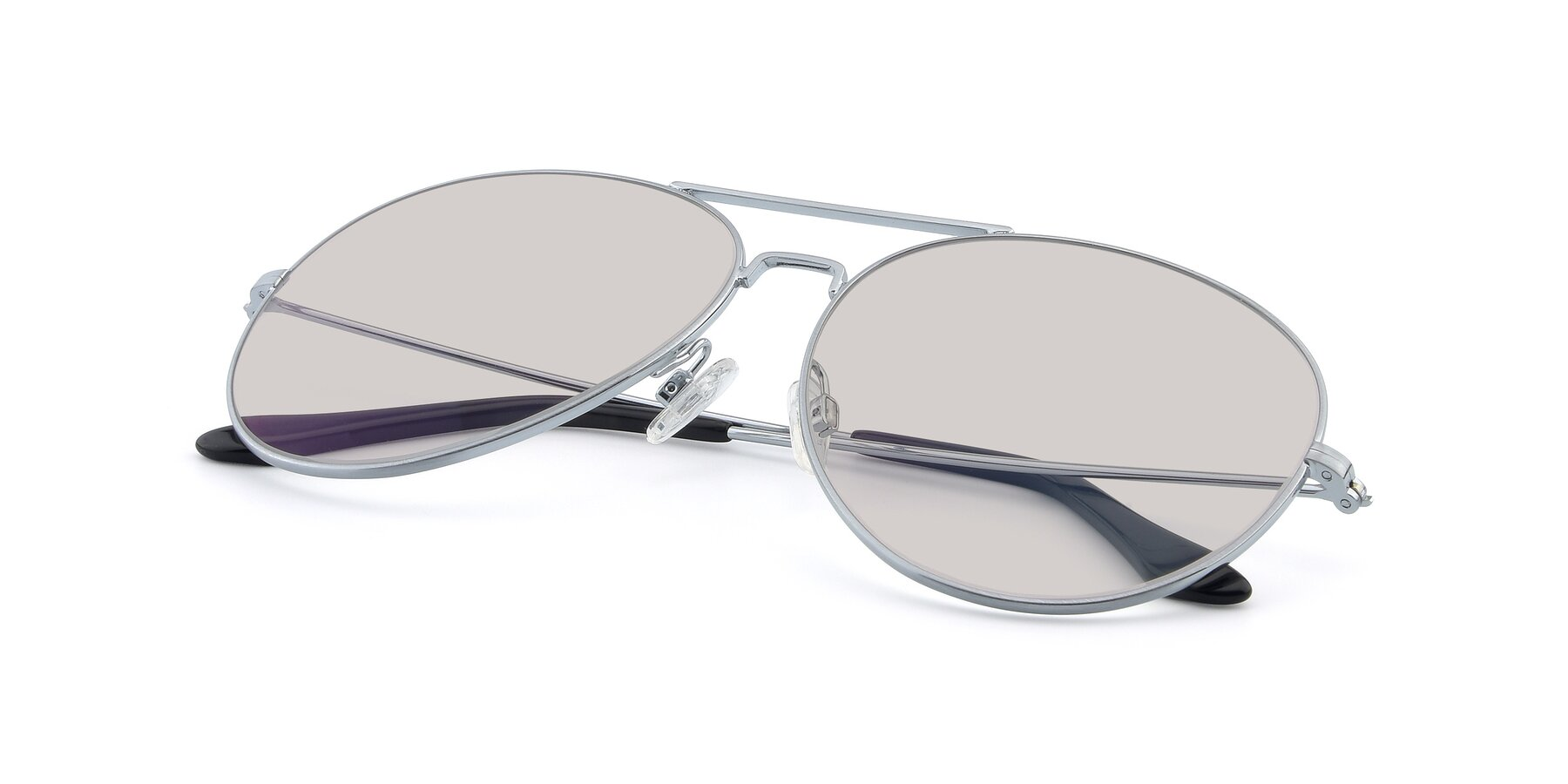 View of Paradise in Silver with Light Brown Tinted Lenses