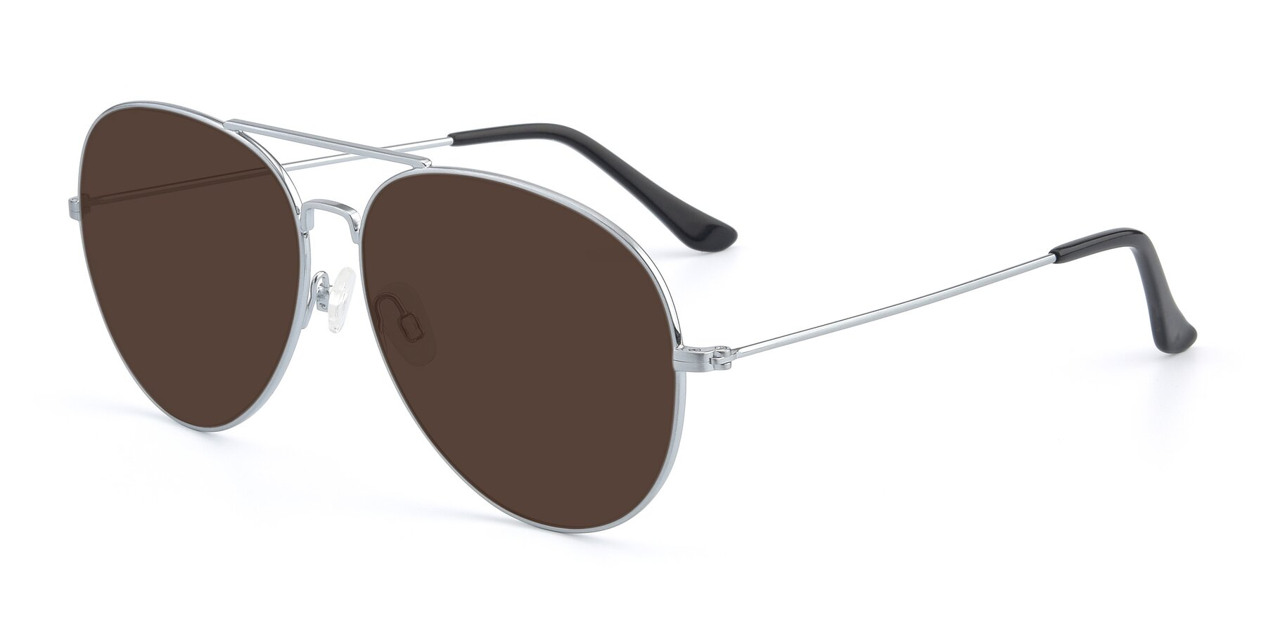 Angle of Paradise in Silver with Brown Tinted Lenses