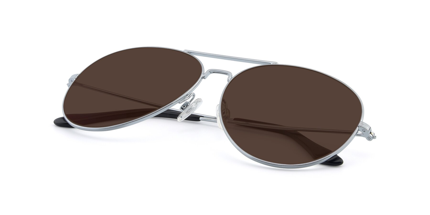 View of Paradise in Silver with Brown Tinted Lenses