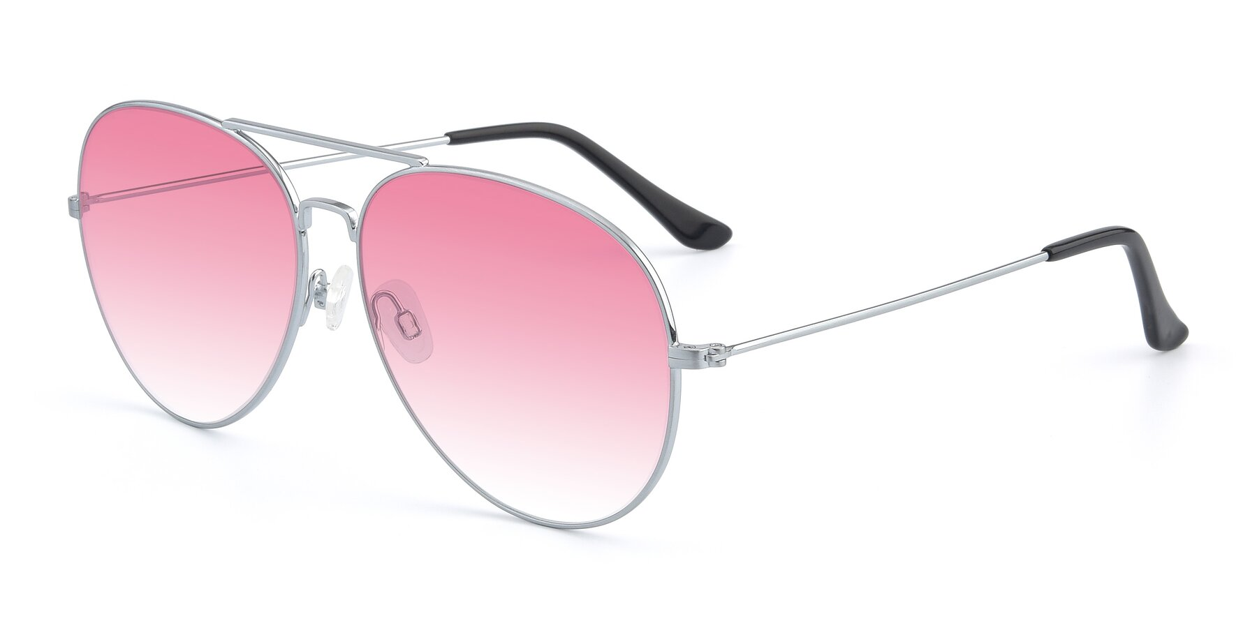 Angle of Paradise in Silver with Pink Gradient Lenses