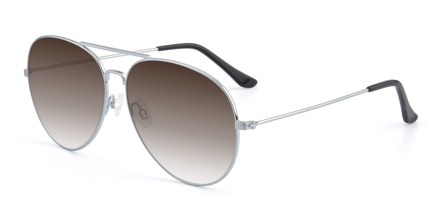 Angle of Paradise in Silver with Brown Gradient Lenses