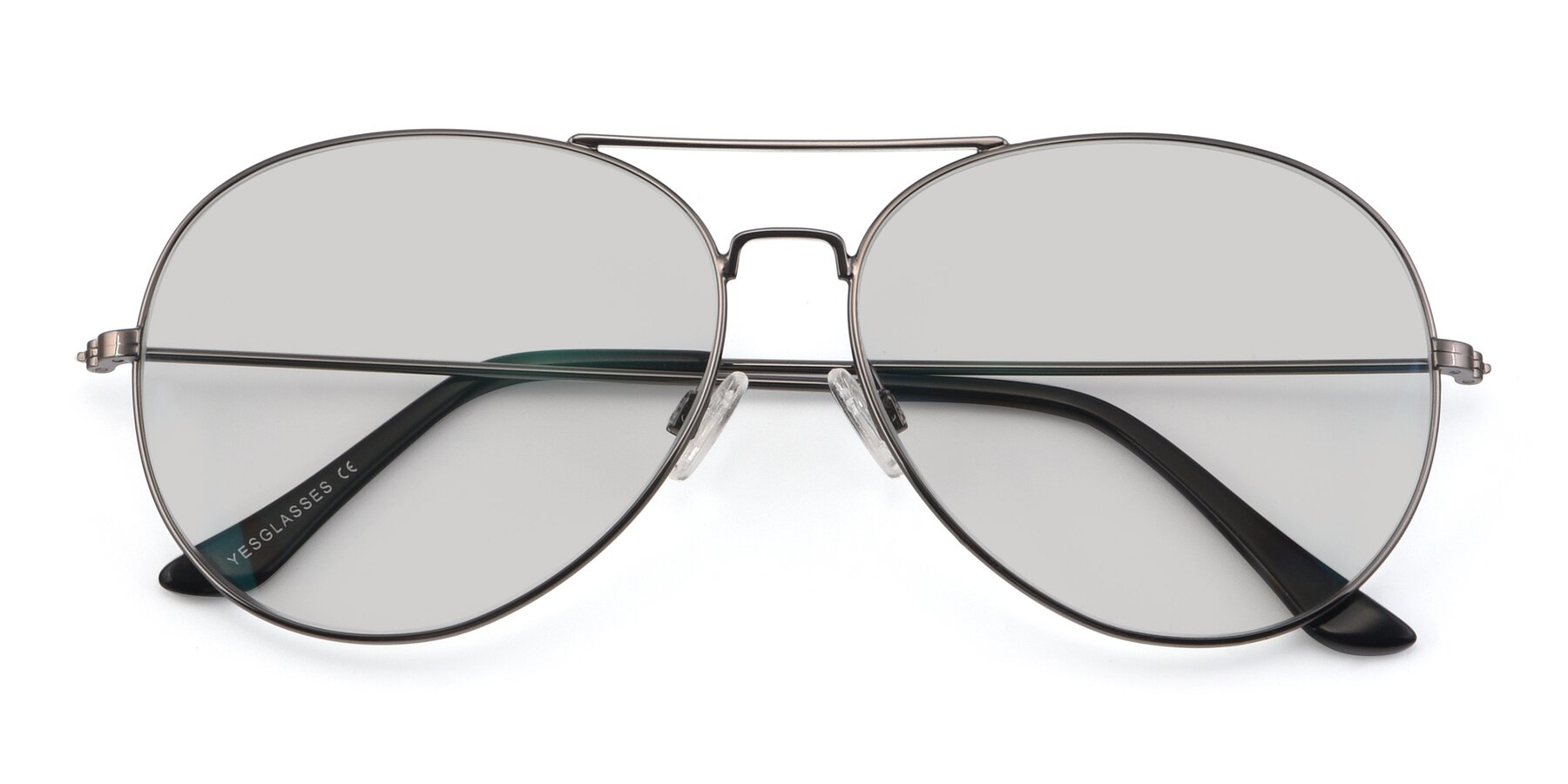 Folded Front of Paradise in Gunmetal with Light Gray Tinted Lenses