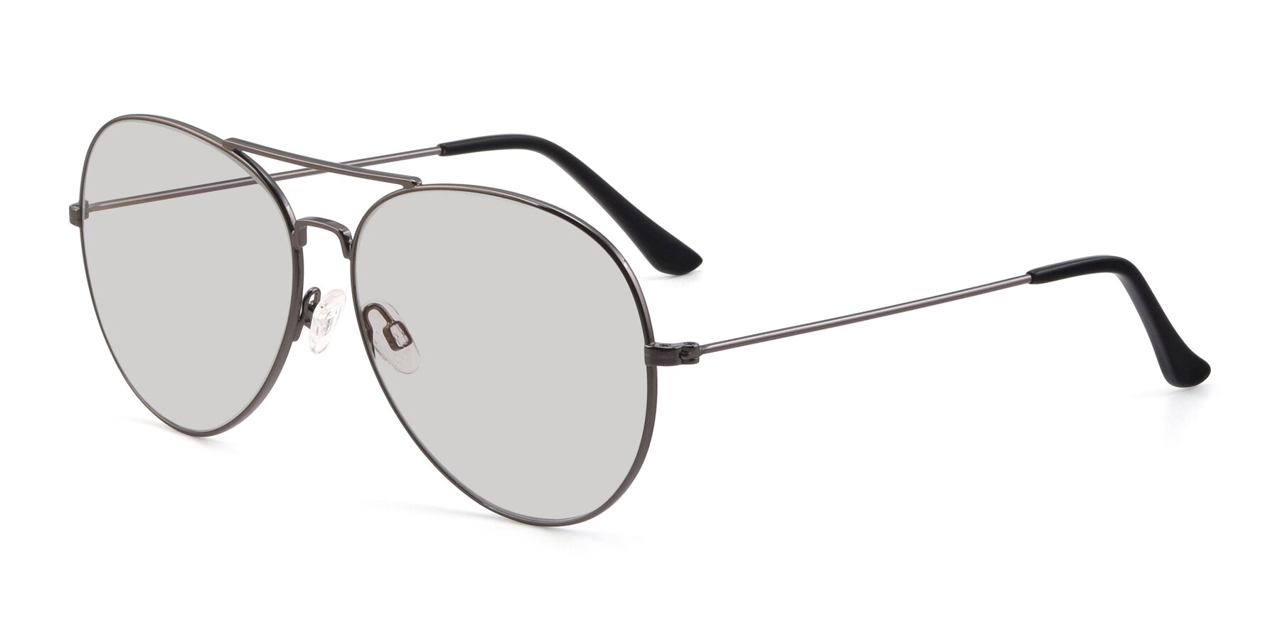 Angle of Paradise in Gunmetal with Light Gray Tinted Lenses