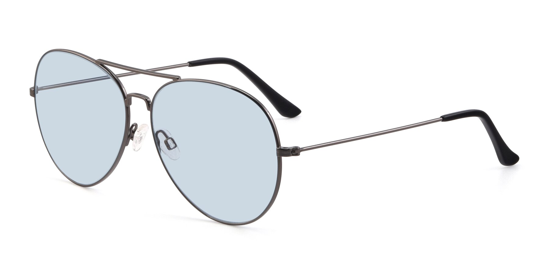 Angle of Paradise in Gunmetal with Light Blue Tinted Lenses
