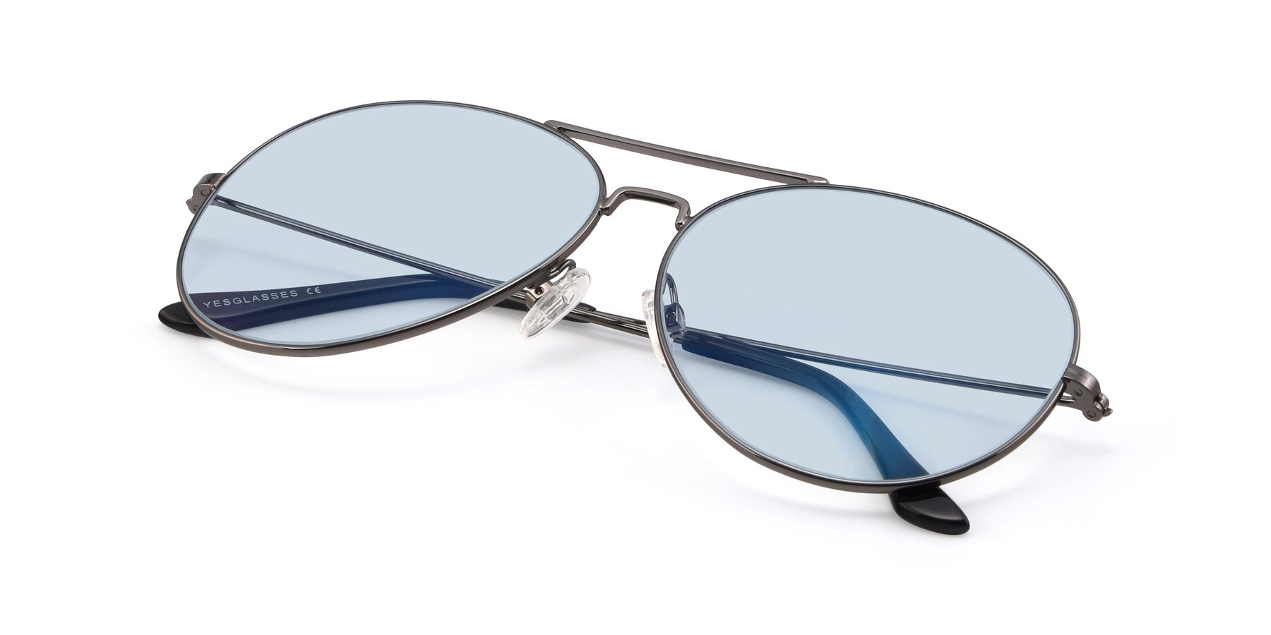 View of Paradise in Gunmetal with Light Blue Tinted Lenses