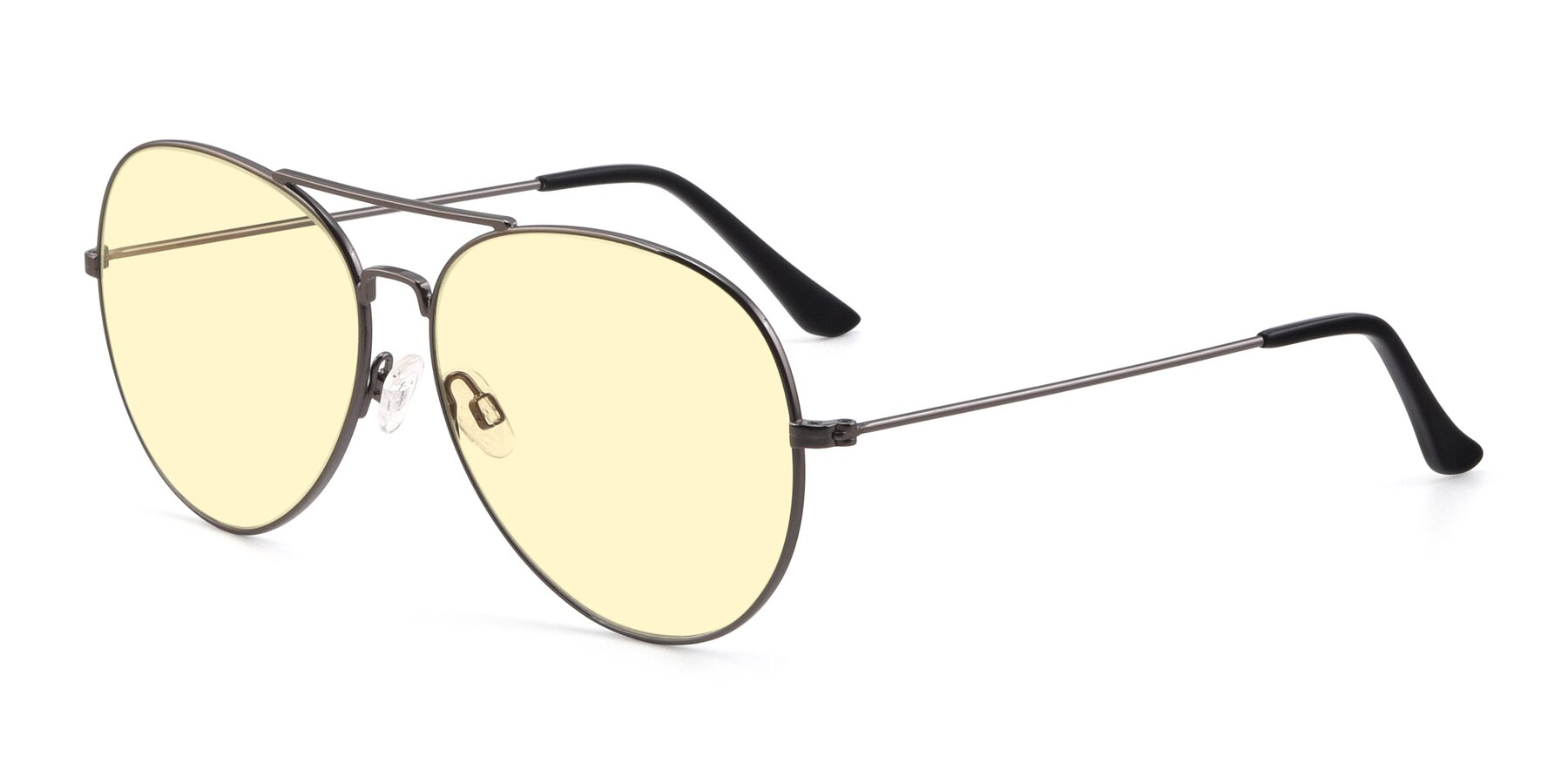 Angle of Paradise in Gunmetal with Light Yellow Tinted Lenses