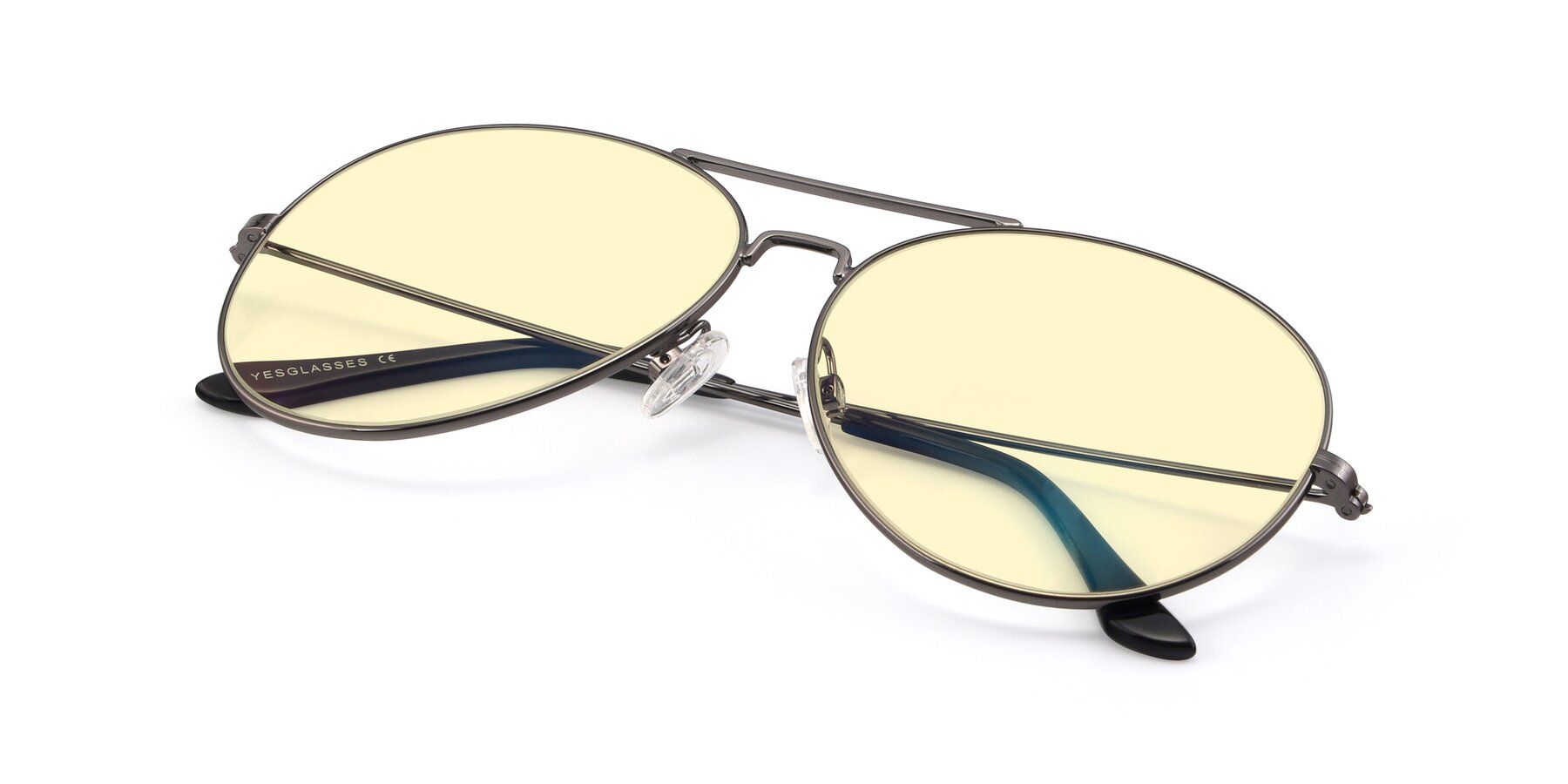 View of Paradise in Gunmetal with Light Yellow Tinted Lenses