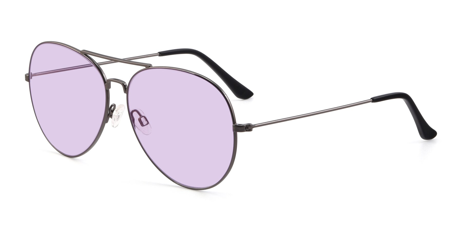 Angle of Paradise in Gunmetal with Light Purple Tinted Lenses