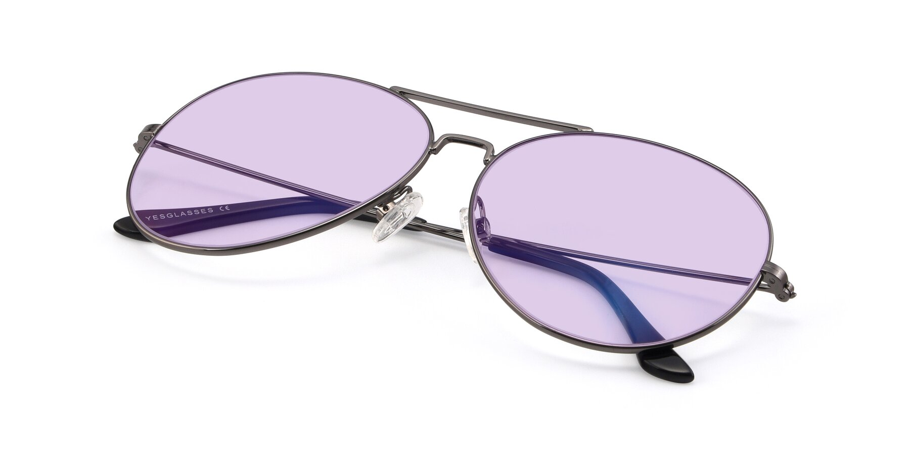 View of Paradise in Gunmetal with Light Purple Tinted Lenses