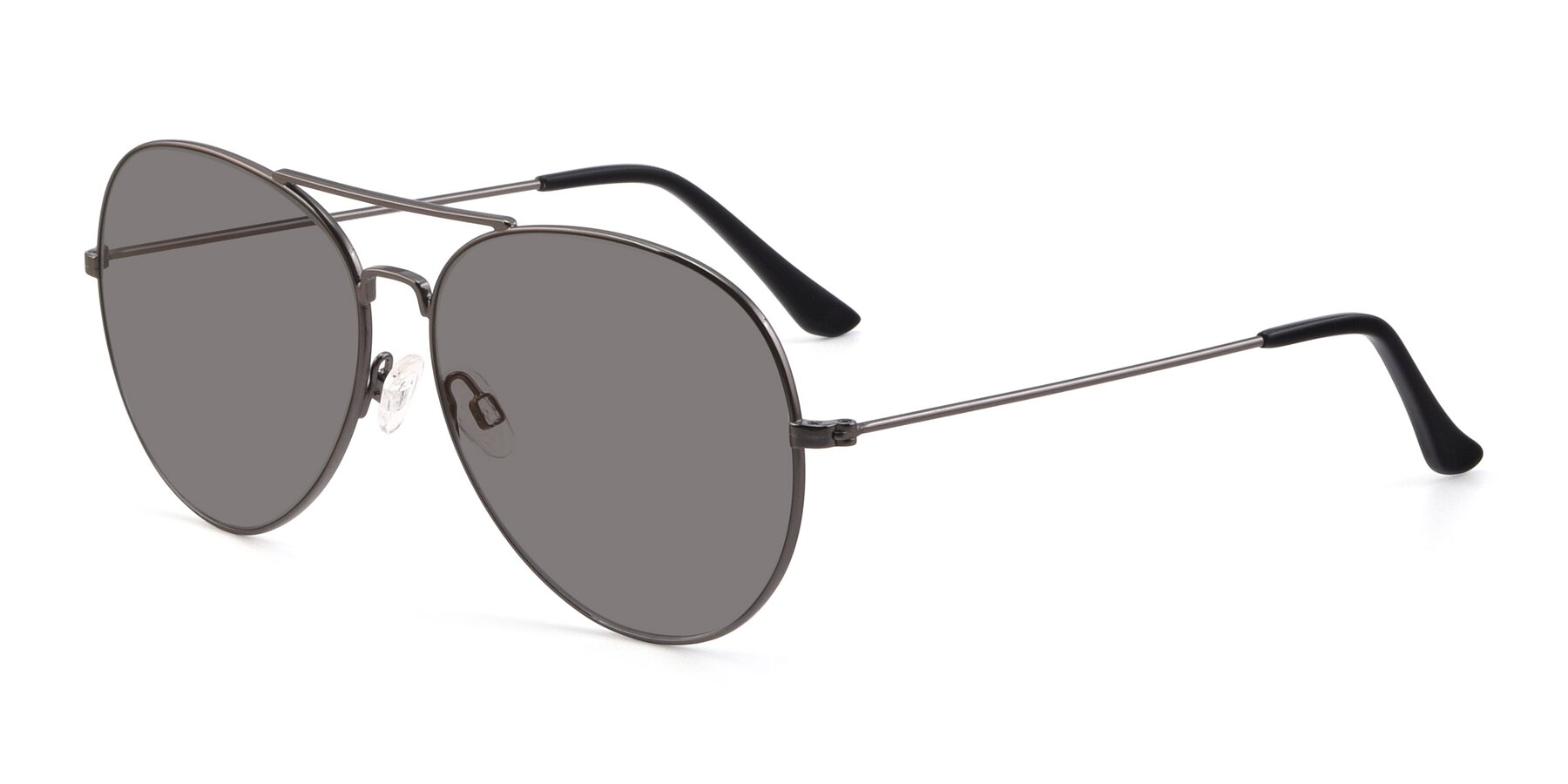 Angle of Paradise in Gunmetal with Medium Gray Tinted Lenses
