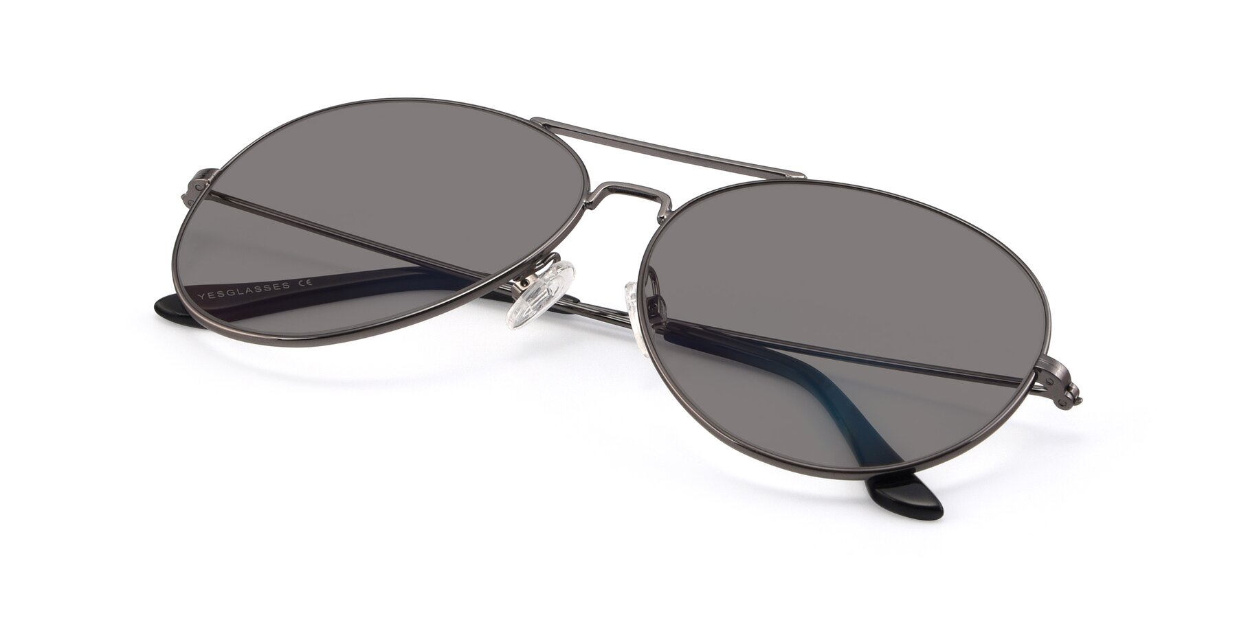 View of Paradise in Gunmetal with Medium Gray Tinted Lenses
