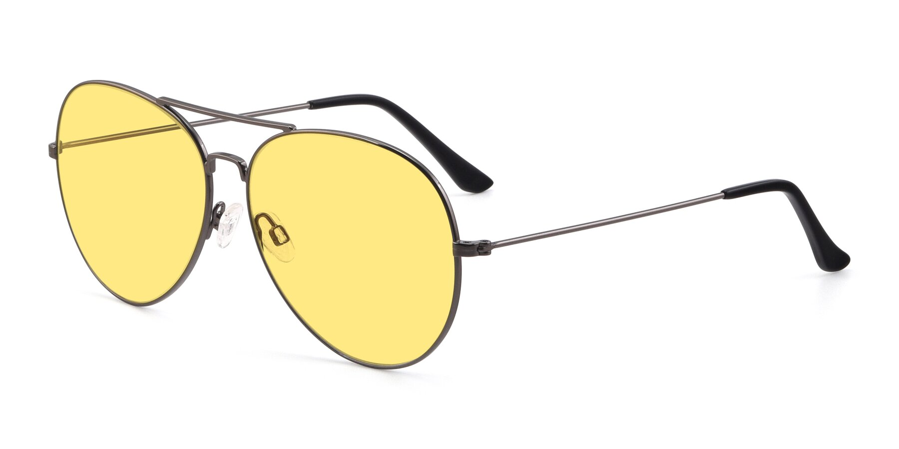 Angle of Paradise in Gunmetal with Medium Yellow Tinted Lenses