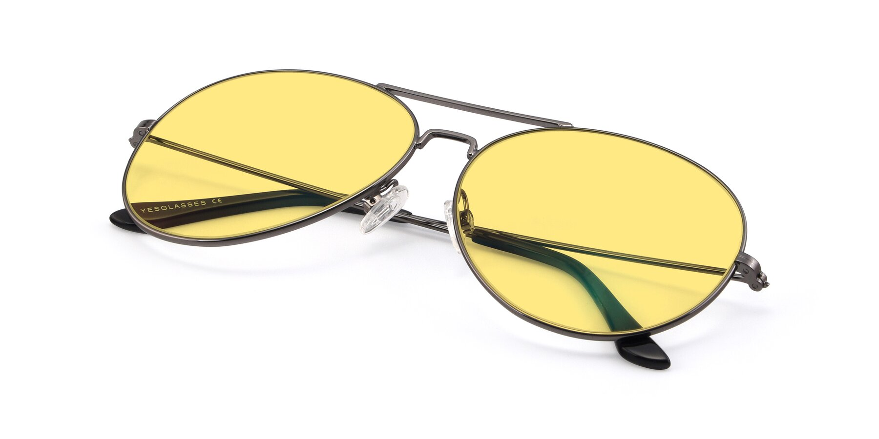 View of Paradise in Gunmetal with Medium Yellow Tinted Lenses