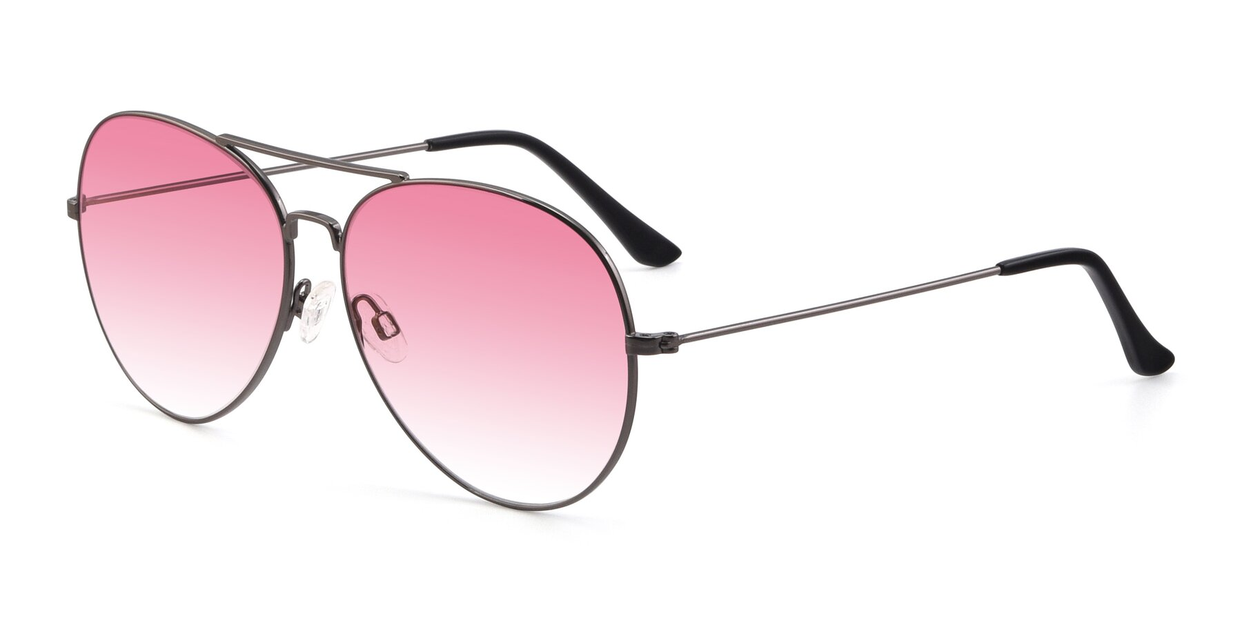 Angle of Paradise in Gunmetal with Pink Gradient Lenses
