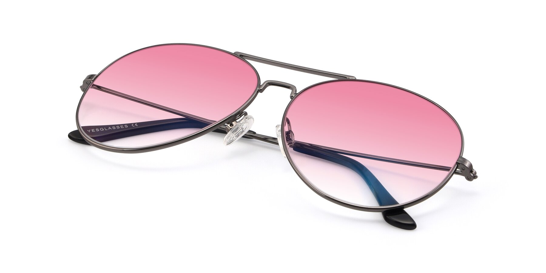View of Paradise in Gunmetal with Pink Gradient Lenses
