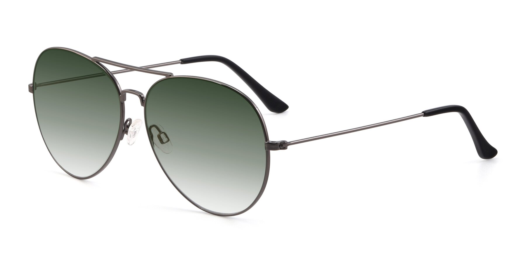 Angle of Paradise in Gunmetal with Green Gradient Lenses