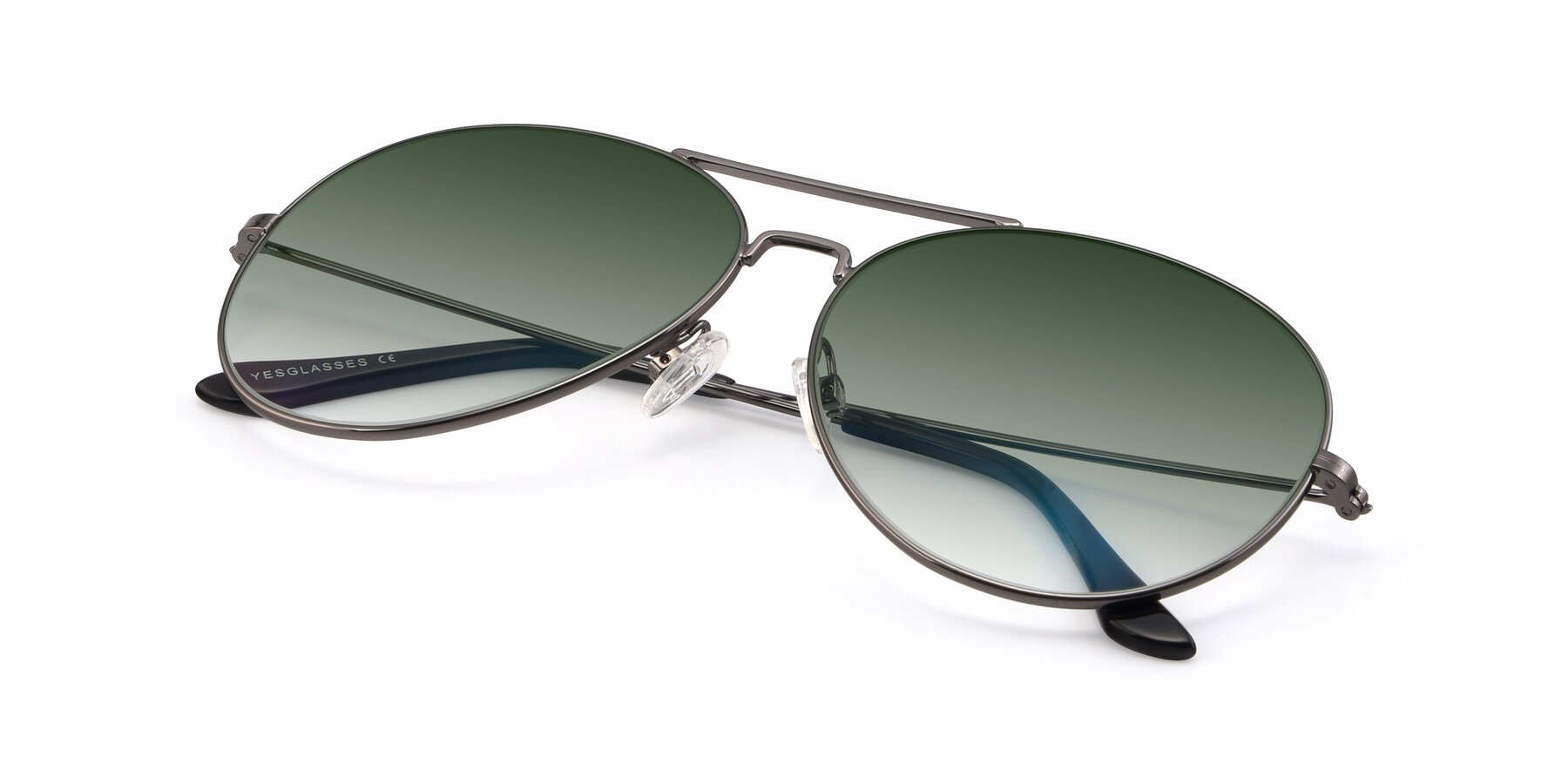 View of Paradise in Gunmetal with Green Gradient Lenses
