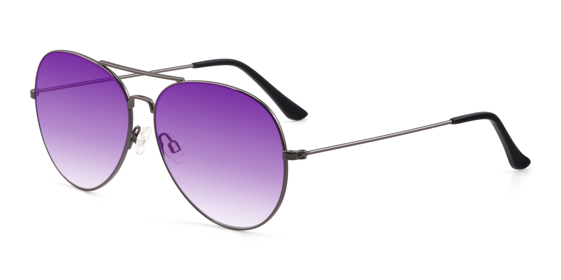 Angle of Paradise in Gunmetal with Purple Gradient Lenses