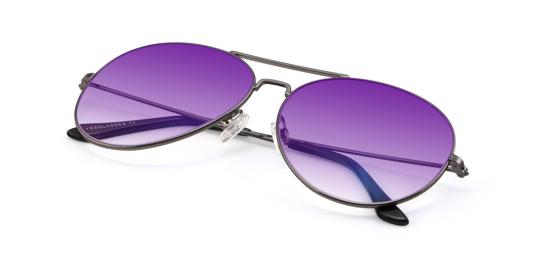View of Paradise in Gunmetal with Purple Gradient Lenses