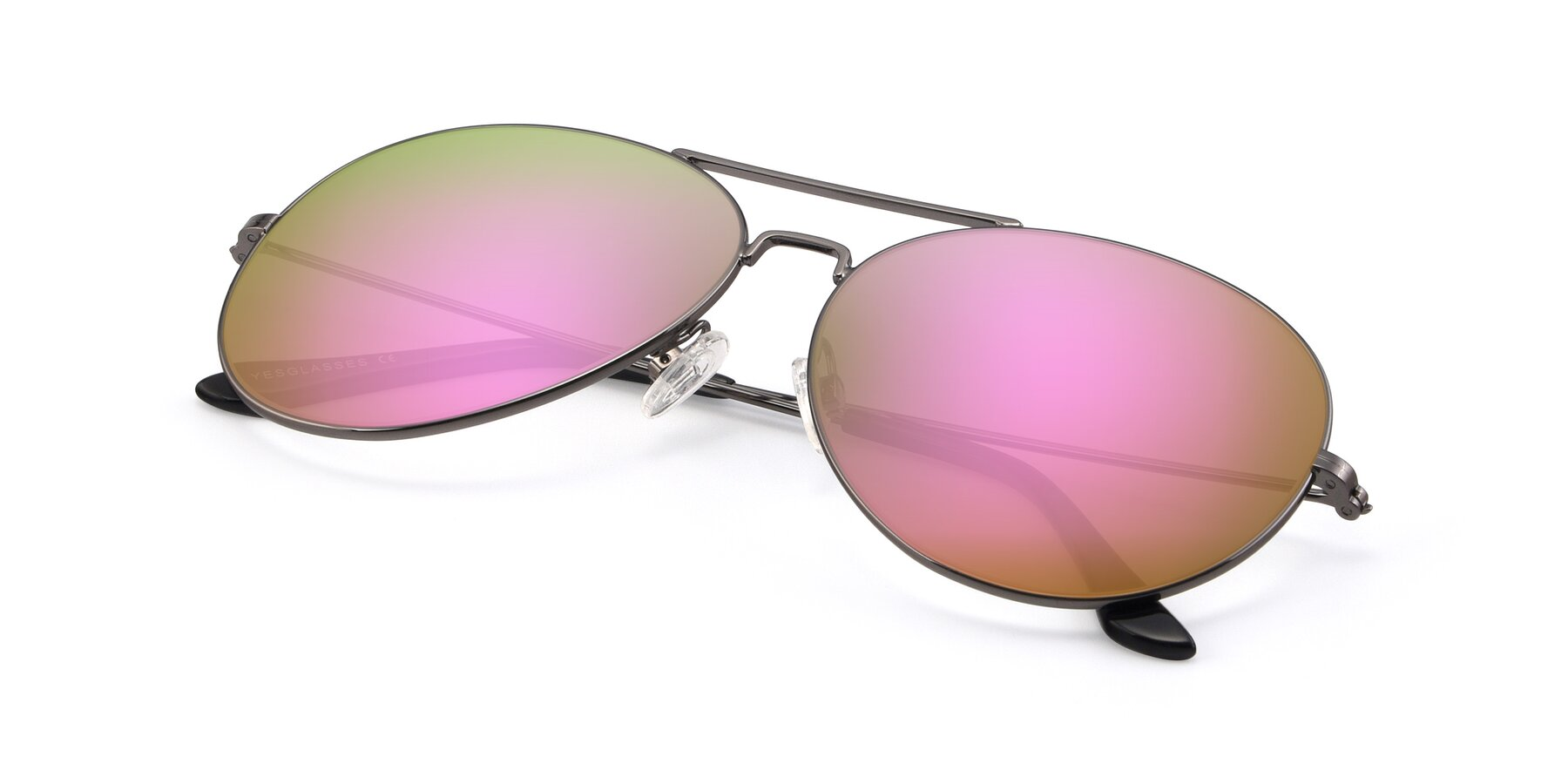 View of Paradise in Gunmetal with Pink Mirrored Lenses