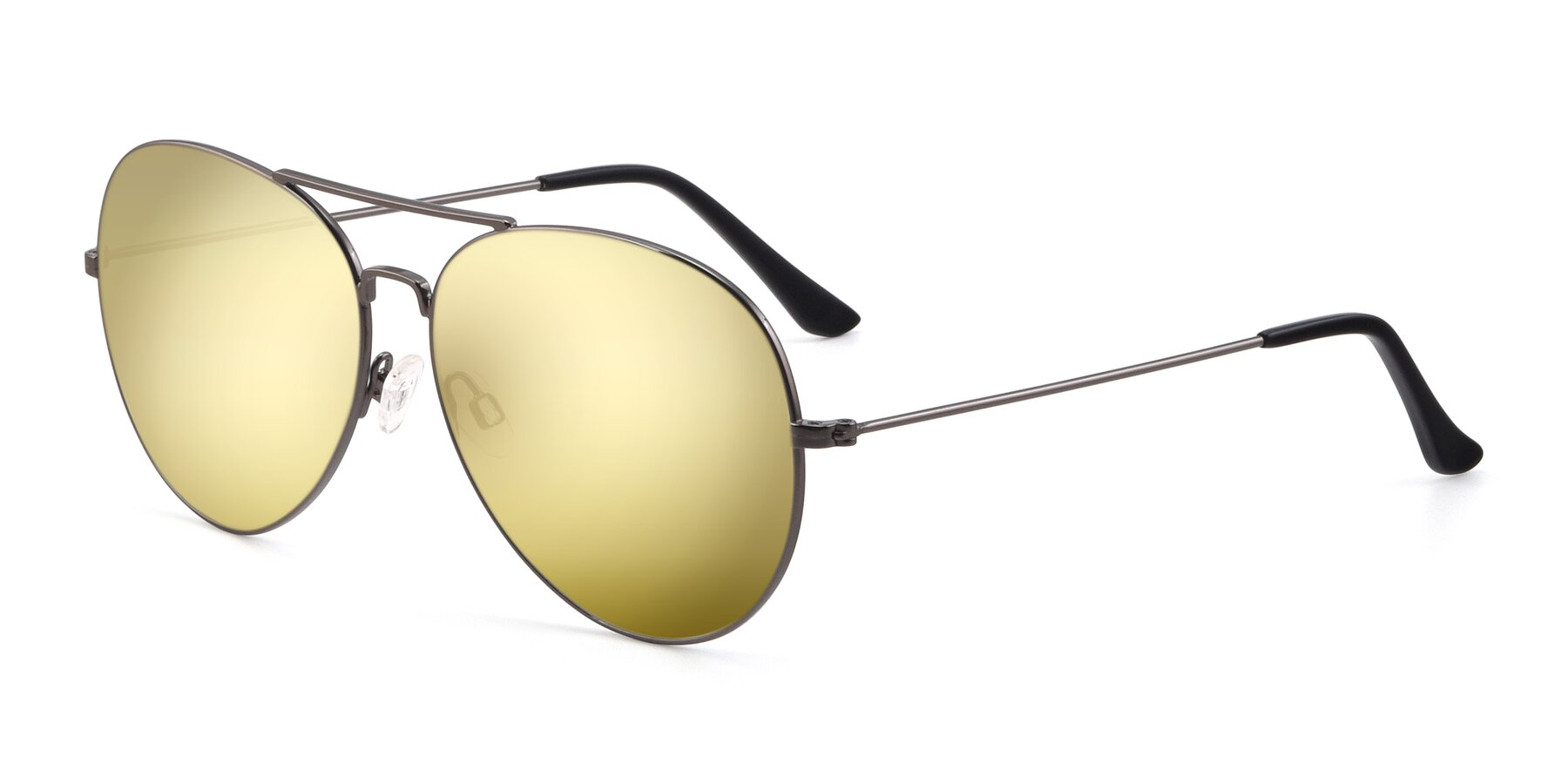 Angle of Paradise in Gunmetal with Gold Mirrored Lenses