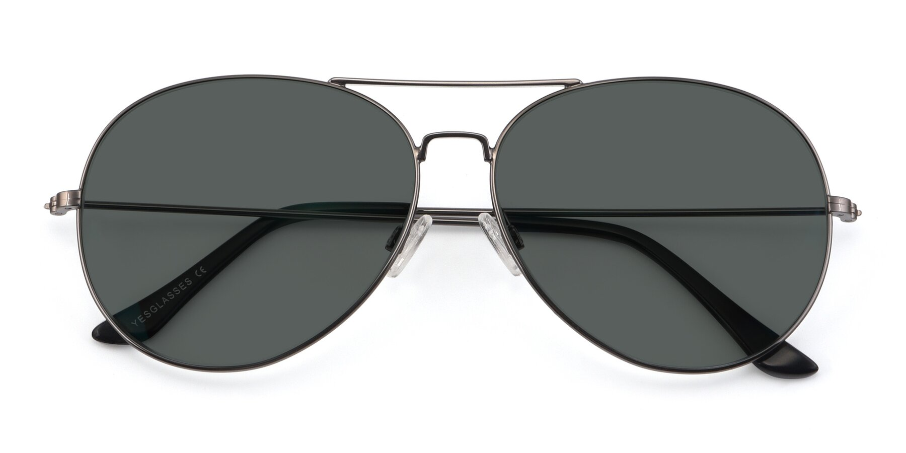 Folded Front of Paradise in Gunmetal with Gray Polarized Lenses