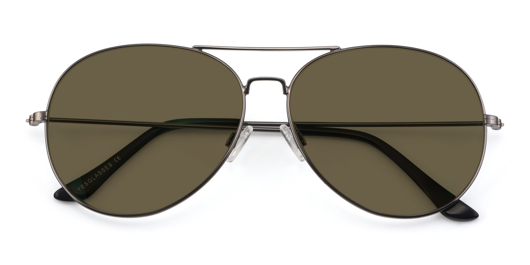 Folded Front of Paradise in Gunmetal with Brown Polarized Lenses