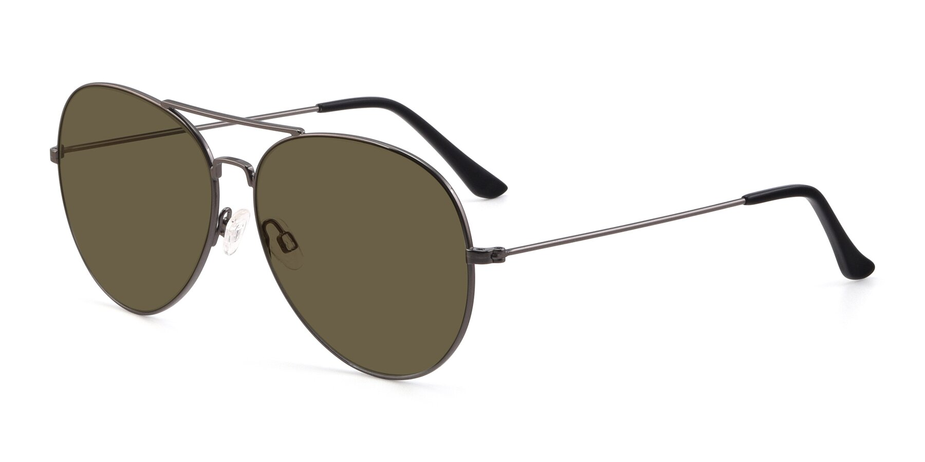 Angle of Paradise in Gunmetal with Brown Polarized Lenses