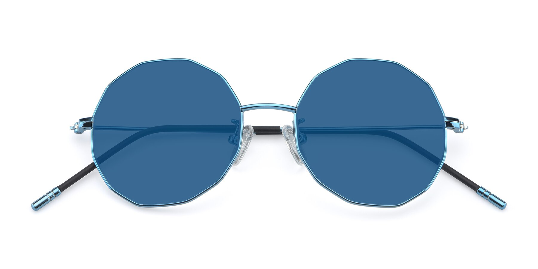 Folded Front of Dreamer in Blue with Blue Tinted Lenses