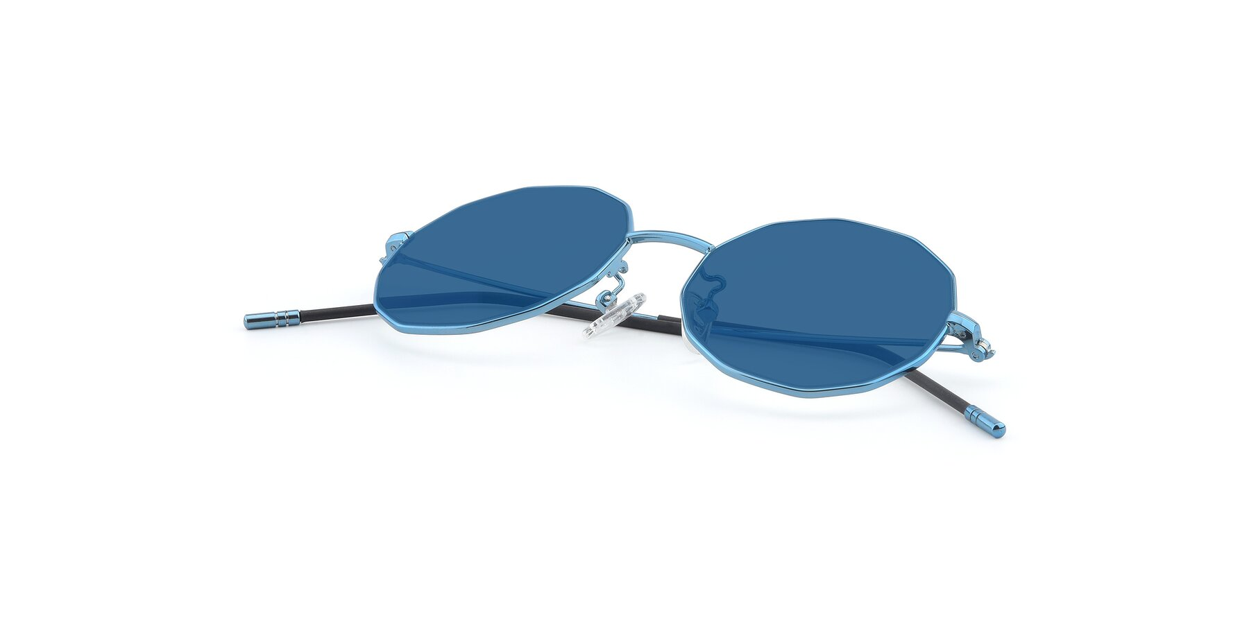 View of Dreamer in Blue with Blue Tinted Lenses