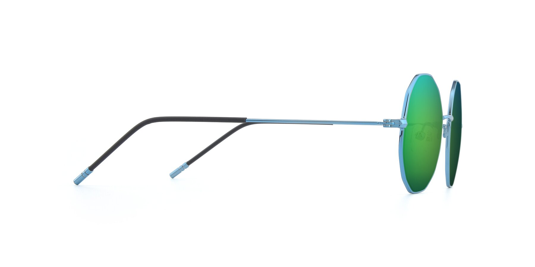 Side of Dreamer in Blue with Green Mirrored Lenses