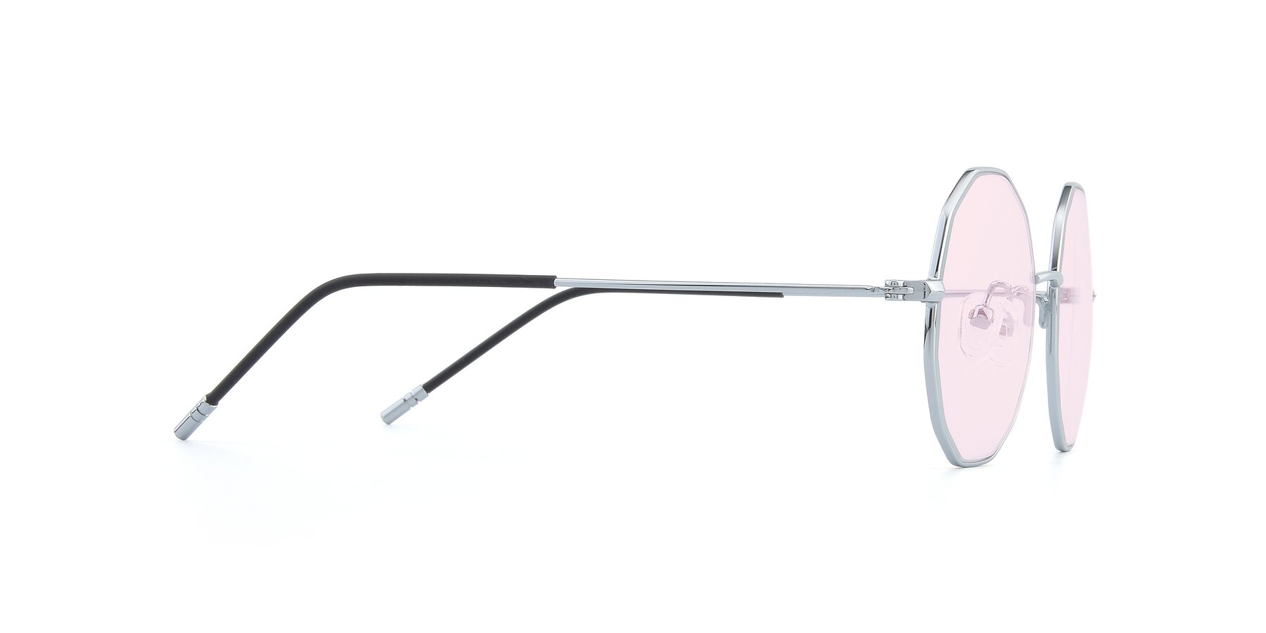 Side of Dreamer in Silver with Light Pink Tinted Lenses