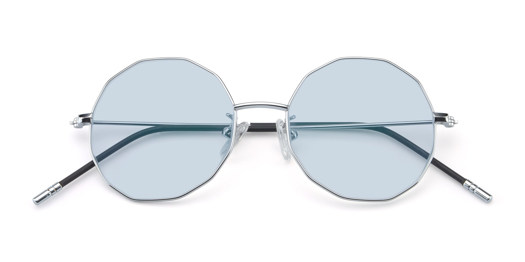 Folded Front of Dreamer in Silver with Light Blue Tinted Lenses
