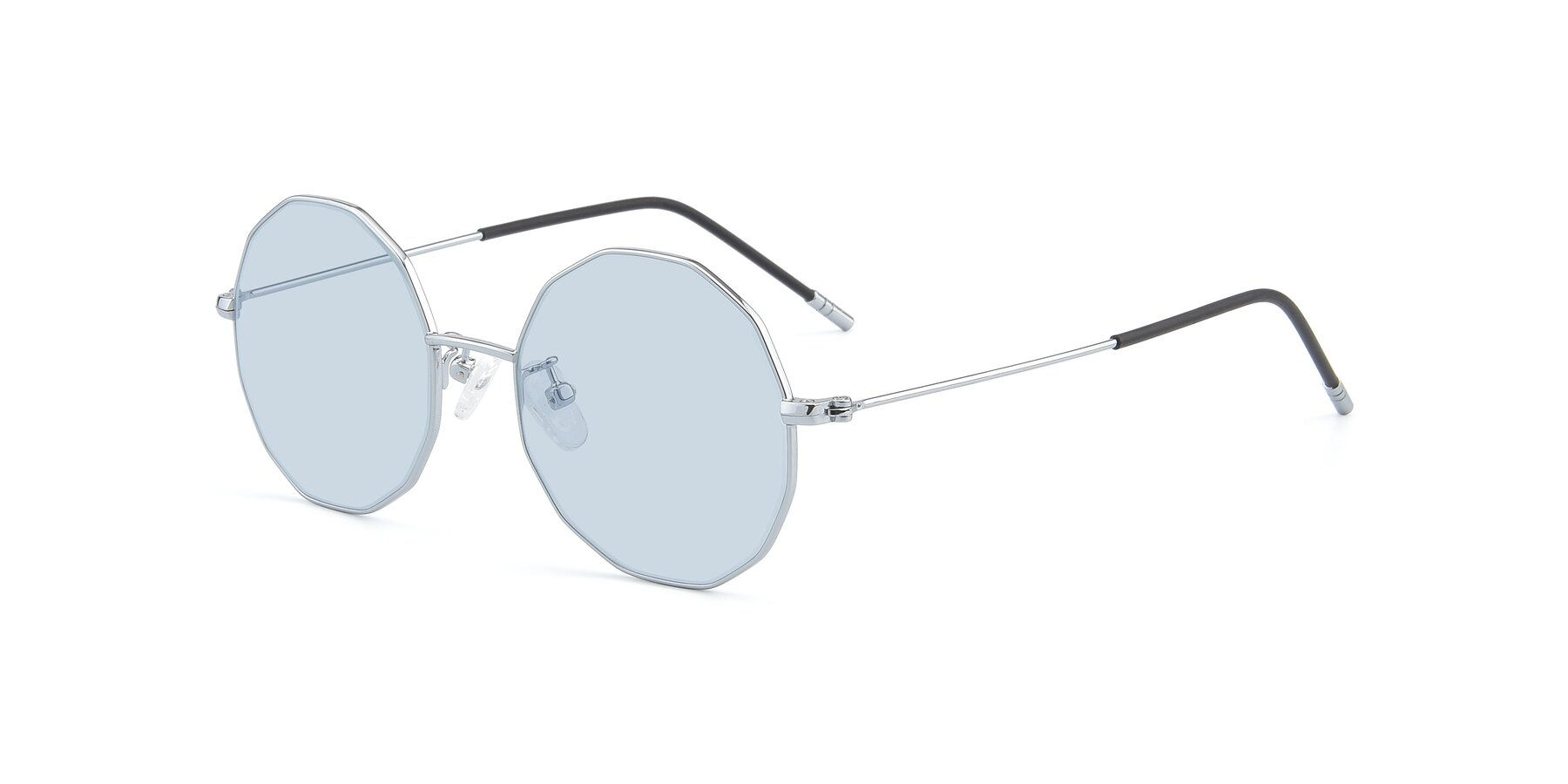 Angle of Dreamer in Silver with Light Blue Tinted Lenses