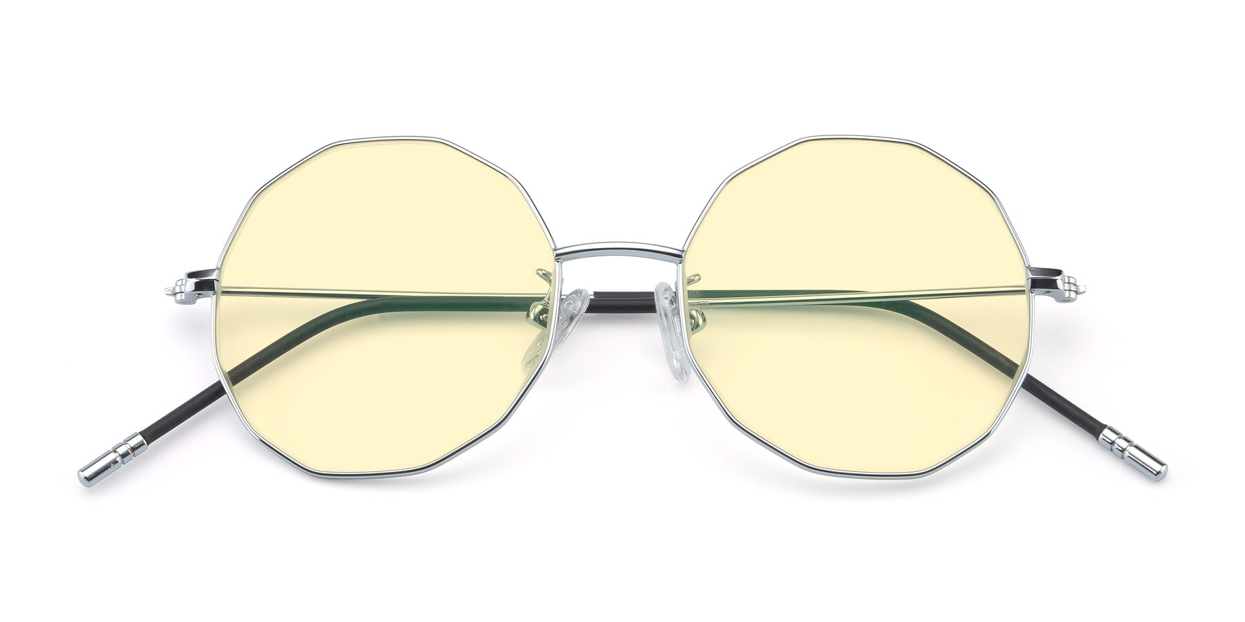 Folded Front of Dreamer in Silver with Light Yellow Tinted Lenses