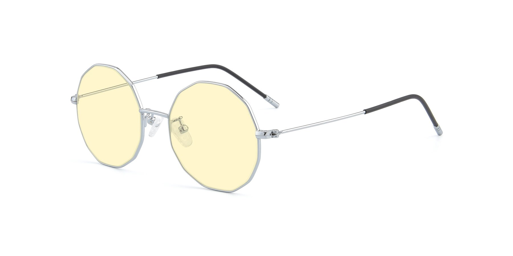 Angle of Dreamer in Silver with Light Yellow Tinted Lenses