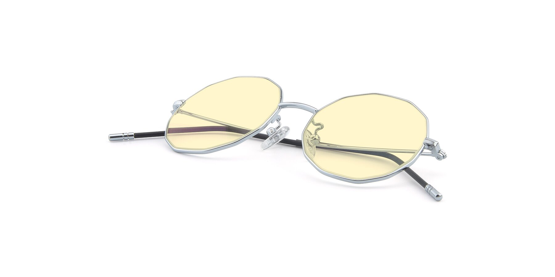 View of Dreamer in Silver with Light Yellow Tinted Lenses