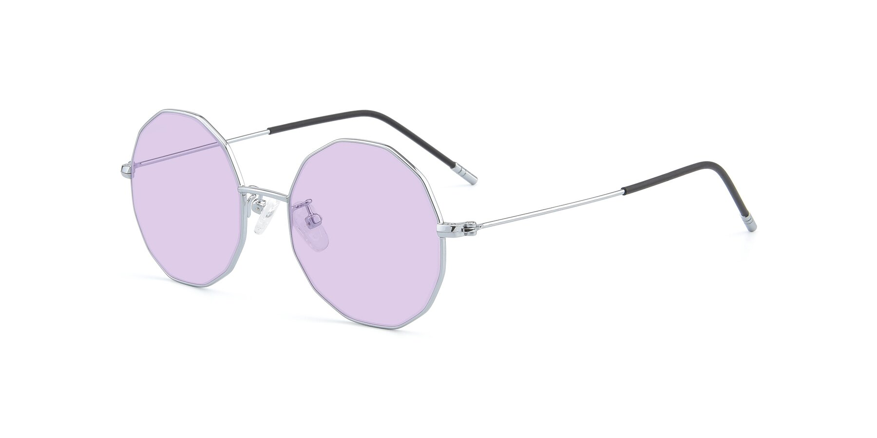 Angle of Dreamer in Silver with Light Purple Tinted Lenses