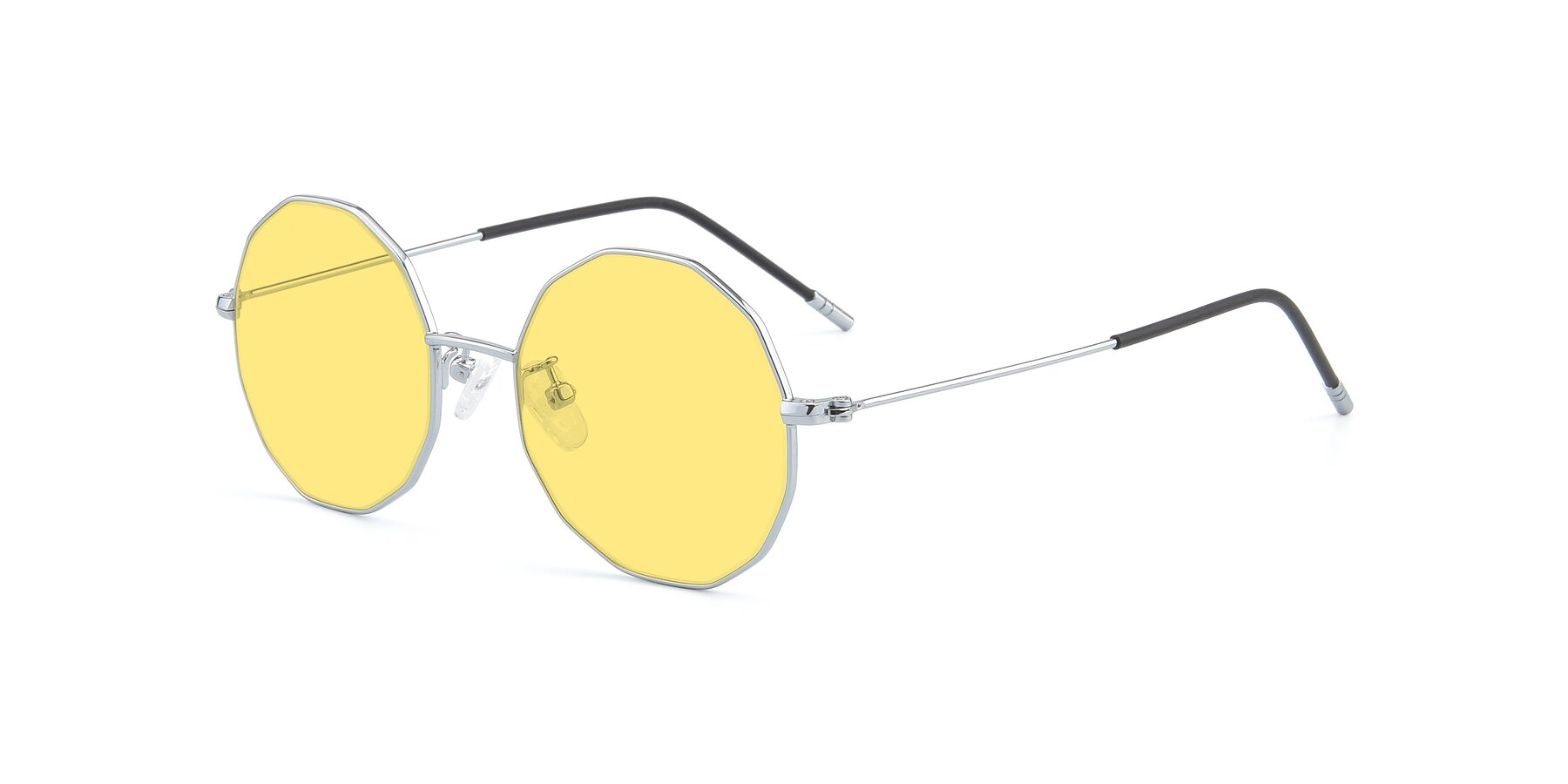 Angle of Dreamer in Silver with Medium Yellow Tinted Lenses